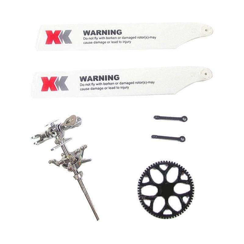 Planet Gates SilverK120 Original XK K110 K120 V977 Upgraded Main Rotor Head Set Assembly for RC Helicopter Spare Parts Accessories Accs