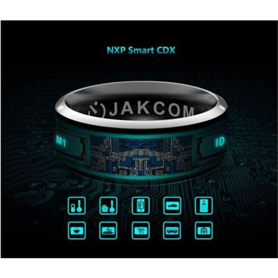 Planet Gates Size 7Q / MJ02 Black NFC Smart Finger Ring waterproof/dust-proof For Sony LG Samsung iphone HTC Android Mobile Phone Wear Magic Jakcom Smart Ring R3