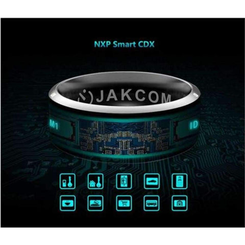 Image of Planet Gates Size 7Q / MJ02 Black NFC Smart Finger Ring waterproof/dust-proof For Sony LG Samsung iphone HTC Android Mobile Phone Wear Magic Jakcom Smart Ring R3