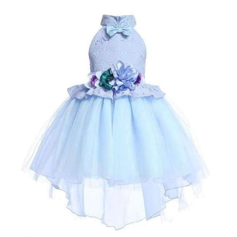 Planet Gates Sky blue 1 / 2T Baby Girl embroidery Silk Princess Dress for Wedding party Kids  Dresses for Toddler Girl Children Fashion Christmas Clothing