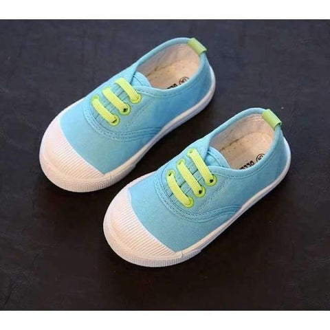Planet Gates Sky Blue / 6 Kids Girls Boy's Fashion Canvas Shoes Breathable Sneakers Shoe For Children Size 21-30 Flats Heels Casual Shoes