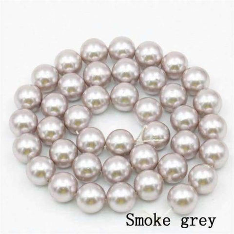 Planet Gates smoke gray Charming 10mm Natural Mixed Color Black Shell Pearl Beads DIY Accessories Gift Manual Make Jewelry Wholesale Price AAA+ 16inch