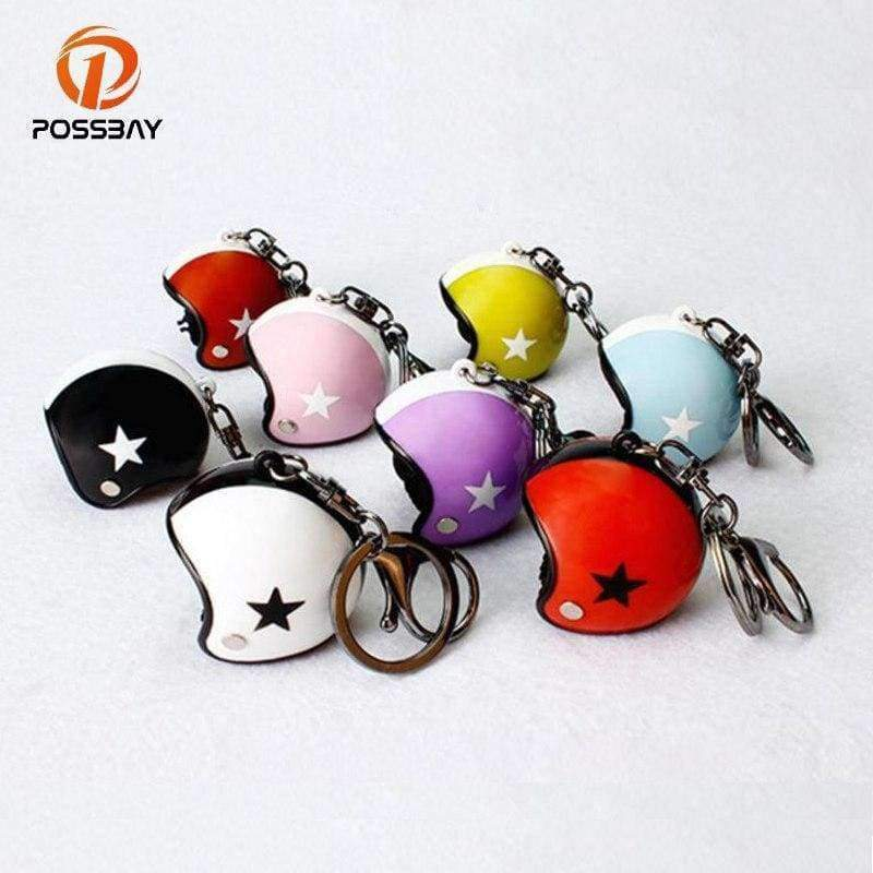 Planet Gates Style 1 POSSBAY Motorcycle Helmet Keychains Cute Fashion Helmet Keychain Automobile Interior Decoration Ornament Accessories