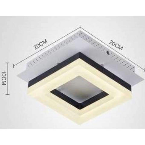 Image of Planet Gates Style A black frame Modern 1 pcs Arcrylic Led Porch light surface Lamp office commercial lighting aisle Corridor led Ceiling Lamp Luminaria De Led