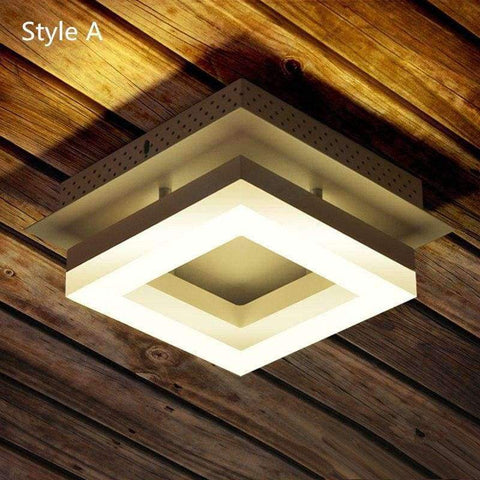 Image of Planet Gates Style A white frame Modern 1 pcs Arcrylic Led Porch light surface Lamp office commercial lighting aisle Corridor led Ceiling Lamp Luminaria De Led