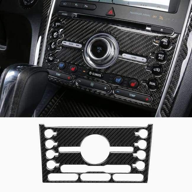 Planet Gates Style13-2016-2017 JHO Carbon Fiber Trim Interior Covers Cup Holder Panel Window Door Handle Stickers For Ford Explorer 2013-2017 Car Accessories