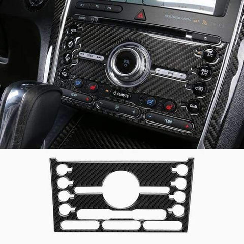 Image of Planet Gates Style13-2016-2017 JHO Carbon Fiber Trim Interior Covers Cup Holder Panel Window Door Handle Stickers For Ford Explorer 2013-2017 Car Accessories