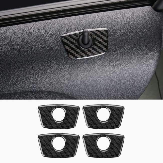 Planet Gates Style2-2013-17 JHO Carbon Fiber Trim Interior Covers Cup Holder Panel Window Door Handle Stickers For Ford Explorer 2013-2017 Car Accessories
