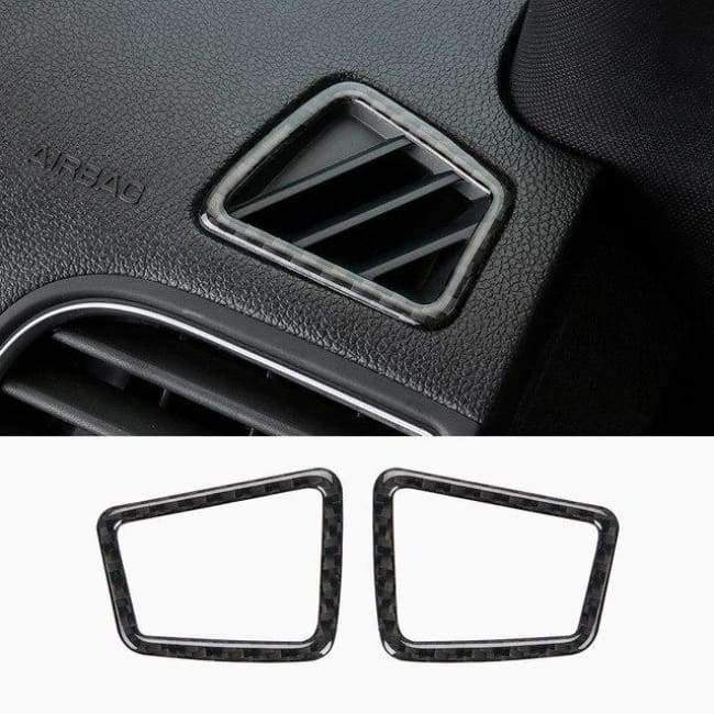 Planet Gates Style3-2013-17 JHO Carbon Fiber Trim Interior Covers Cup Holder Panel Window Door Handle Stickers For Ford Explorer 2013-2017 Car Accessories