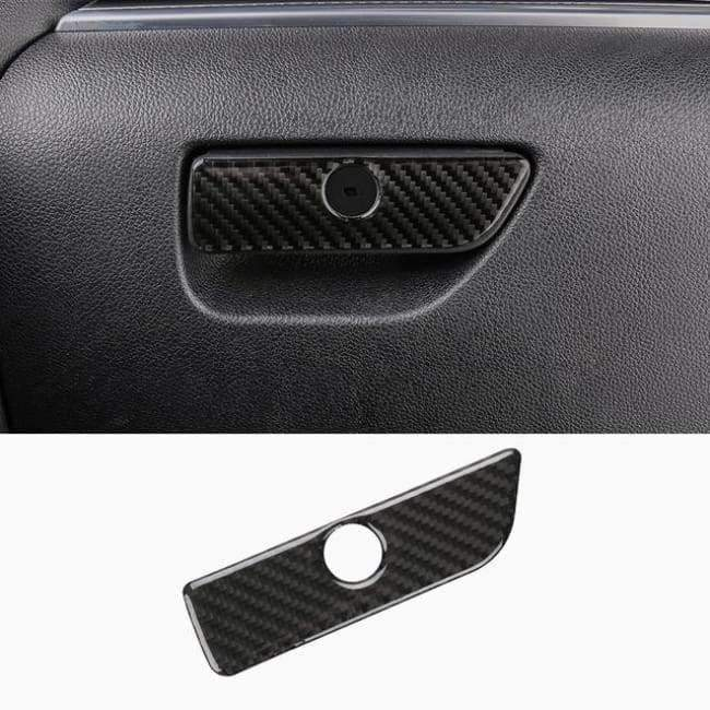 Planet Gates Style4-2013-17 JHO Carbon Fiber Trim Interior Covers Cup Holder Panel Window Door Handle Stickers For Ford Explorer 2013-2017 Car Accessories