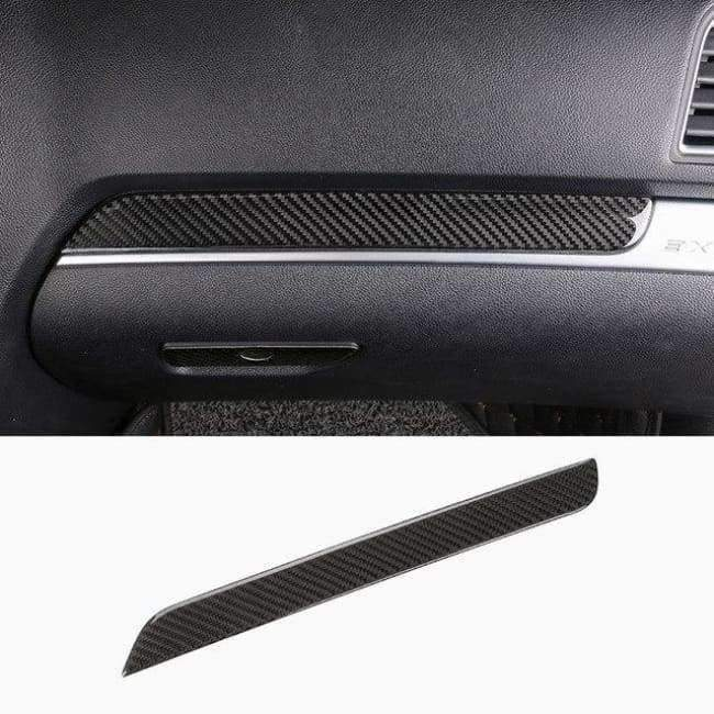 Planet Gates Style5-2013-17 JHO Carbon Fiber Trim Interior Covers Cup Holder Panel Window Door Handle Stickers For Ford Explorer 2013-2017 Car Accessories