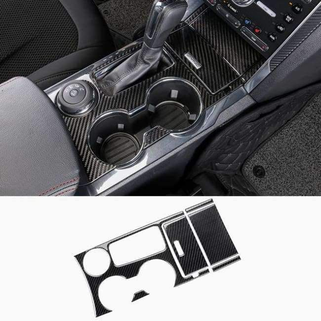 Planet Gates Style7-2013-17 JHO Carbon Fiber Trim Interior Covers Cup Holder Panel Window Door Handle Stickers For Ford Explorer 2013-2017 Car Accessories