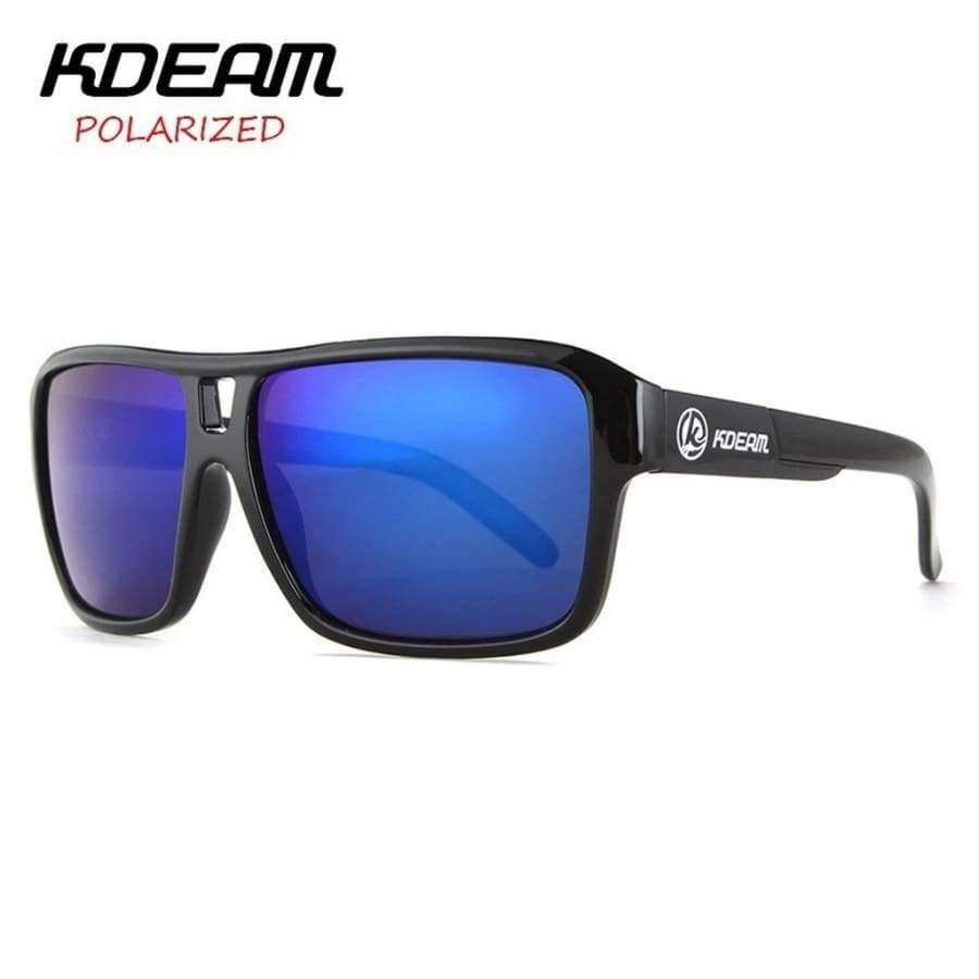 Planet Gates sunglass 201 KDEAM Sport Sunglasses Men Polarized HD lens zonnebril mannen Square Sun Glasses Women Eyewear 6 Colors UV400