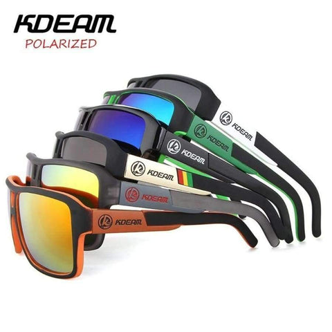 Image of Planet Gates sunglass 201 KDEAM Sport Sunglasses Men Polarized HD lens zonnebril mannen Square Sun Glasses Women Eyewear 6 Colors UV400