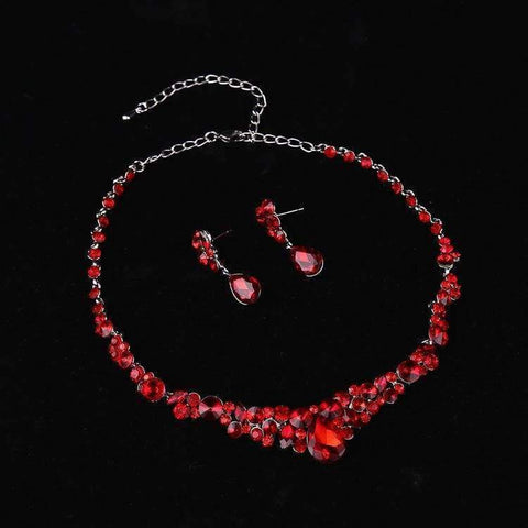 Planet Gates The new bride jewelry luxury red cheongsam wedding accessories african beads jewelry set maxi necklace earrings