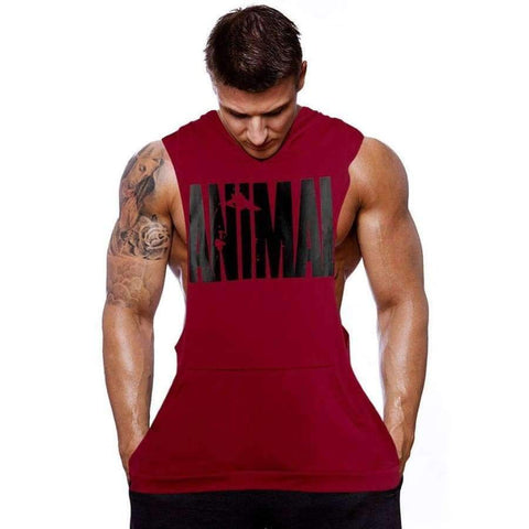 Image of Planet Gates Tshirt Black / M New Hot Men Gym Clothing Bodybuilding Stringer Hoodie Tank Top Muscle hooded Shirt
