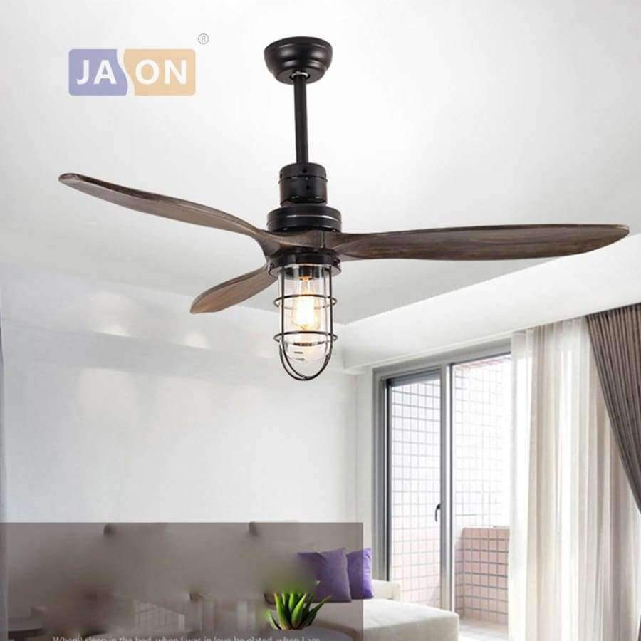 Planet Gates wall switch type led e27 Loft Iron Wood Glass Ceiling Fan LED Lamp.LED Light.Ceiling Lights.LED Ceiling Light.Ceiling Lamp For Foyer
