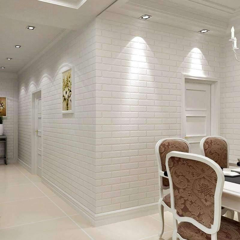 Wallpapers Modern 3d Brick Wallpaper Roll White Thick 3d Embossed Vinyl Covering Wall Paper Store Living Room Tv Backdrop