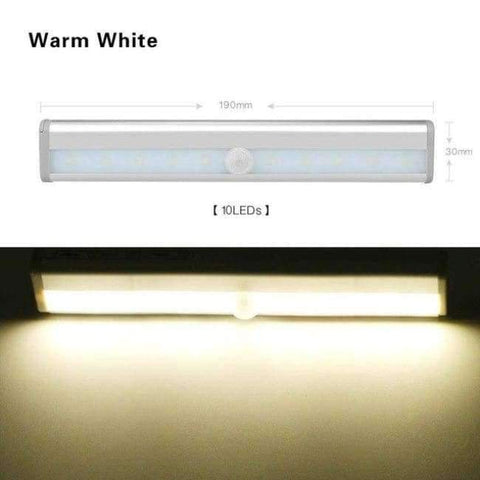 Planet Gates Warm White 1 / Battery Model LED Wireless Motion Sensor Light USB Closet Stairs Night Light for Wardrobe Cupboard Drawer Trunk Hallway Kitchen Baby Nursing