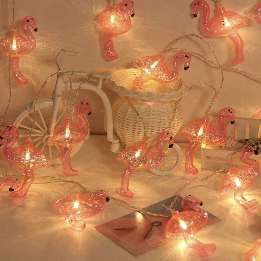 Planet Gates Warm White / 4m 20 lamp battery JUNJUE Flamingo LED String Light ins Korean Style Party Supplies Christmas Wedding Decoration Holiday Lights For Home