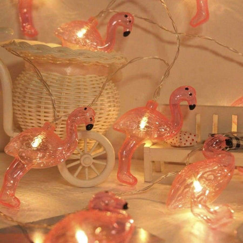 Image of Planet Gates Warm White / 4m 20 lamp battery JUNJUE Flamingo LED String Light ins Korean Style Party Supplies Christmas Wedding Decoration Holiday Lights For Home