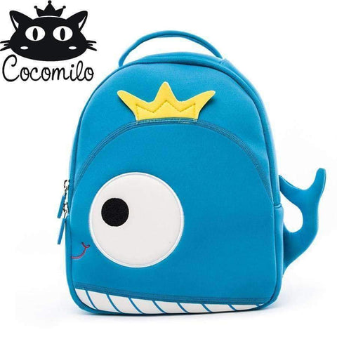 Planet Gates whale Cocomilo Baby 3D Model whale Kids Baby Bag Anti Lost School Bags for 2-6 Years Boys and Girls Bagpack Waterproof Backpack light