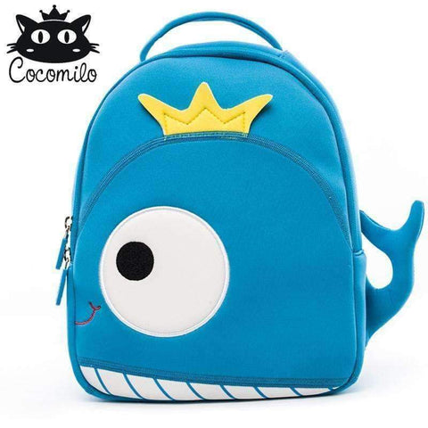 Planet Gates whale Cocomilo Cute Animal Pattern School Bags Baby Kids Small Bag For Girls Boys Cartoon Children Anti-lost Bag Kindergarten Backpack