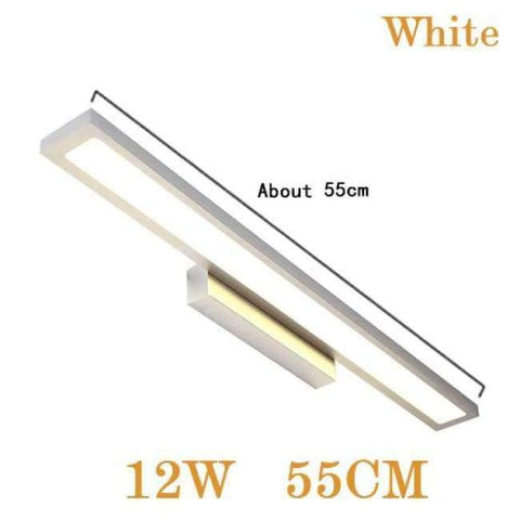 Planet Gates White 12W 55CM / Cold White Modern LED Mirror Light8W 40CM 12W 55CM Wall Lamp Mounted Indoor Lighting Fixture  Waterproof 220V Stainless Steel Bathroom