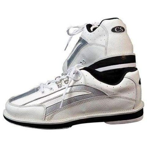 Planet Gates white / 5 Mens  Bowling Shoes with Interchangeable Soles/Heels Black/Blue SIZE 46