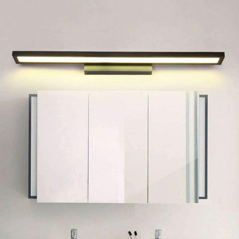 Planet Gates White 6W 25CM / Cold White LED Wall Lamp Minimalism Mirror Front Light Bathroom makeup Wall Lights Modern aluminum wall mounted sconces lighting fixture