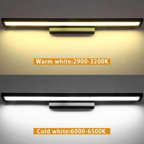 Image of Modern Led Mirror Light8W 40Cm 12W 55Cm Wall Lamp Mounted Indoor Lighting Fixture Waterproof 220V Stainless Steel Bathroom