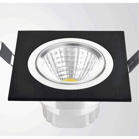 Planet Gates White / 7W No-Dimmable Square Bright Recessed LED Dimmable Square Downlight COB 7W 9W 12W LED Spot light decoration Ceiling Lamp AC 110V/220V
