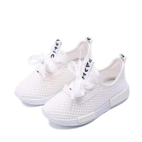 Planet Gates White / 8.5 Spring Autumn Kids Shoes  Fashion Mesh Casual Children Sneakers For Boy Girl Toddler Baby Breathable Sport Shoe
