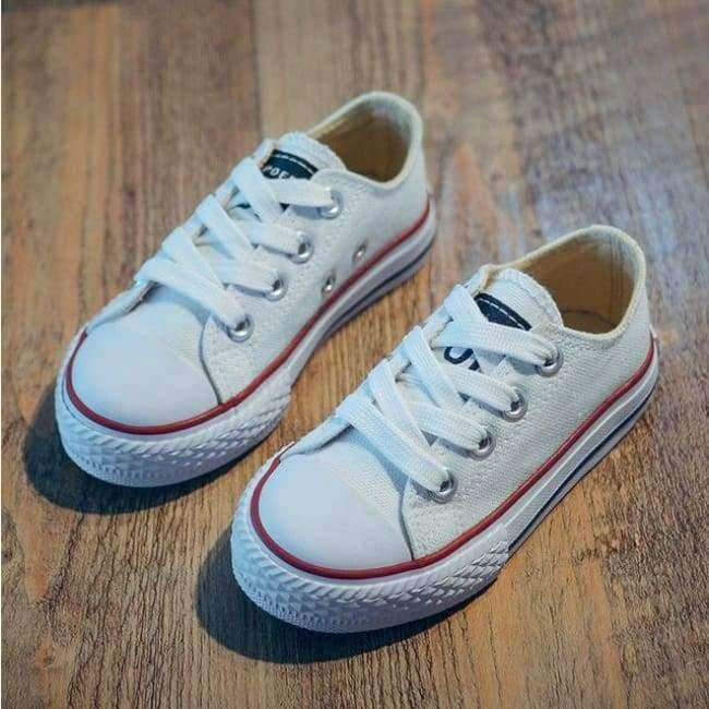 Planet Gates White / 9 Classic Children Canvas Shoes Girls Boys Kids Sneakers 2018 Fashion Casual Baby Running Shoes Solid Color Child Sport Shoes
