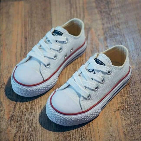 Image of Planet Gates White / 9 Classic Children Canvas Shoes Girls Boys Kids Sneakers 2018 Fashion Casual Baby Running Shoes Solid Color Child Sport Shoes