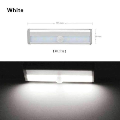 Planet Gates White / Battery Model LED Wireless Motion Sensor Light USB Closet Stairs Night Light for Wardrobe Cupboard Drawer Trunk Hallway Kitchen Baby Nursing