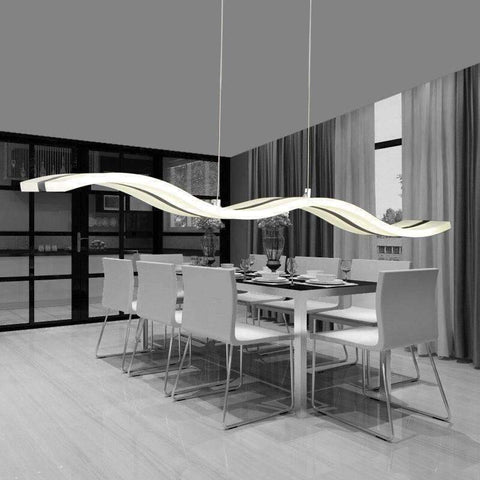 Planet Gates White / Cool white free shipping Simple LED wave character line Home Furnishing acrylic chandelier,AC90-260V Home Furnishing commercial lighting