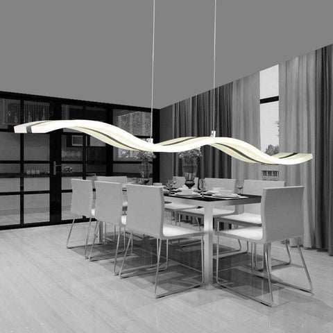 Image of Planet Gates White / Cool white free shipping Simple LED wave character line Home Furnishing acrylic chandelier,AC90-260V Home Furnishing commercial lighting