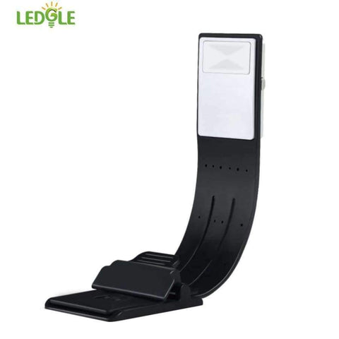 Image of Planet Gates white LEDGLE Rechargeable Reading Lamp Compact Book Light Flexible LED Light Clip-on LED Lamp for Kindle and Book 4 Modes Black