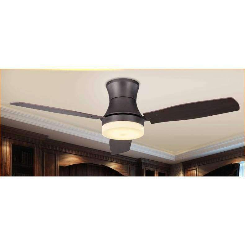 Planet Gates White Light / Remote Control Nordic American Living Room Ceiling Fan Light Simple Restaurant Cafe LED Fan Light Antique Dimmable Fan Light Free Shipping