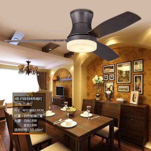Image of Planet Gates White Light / Remote Control Nordic American Living Room Ceiling Fan Light Simple Restaurant Cafe LED Fan Light Antique Dimmable Fan Light Free Shipping