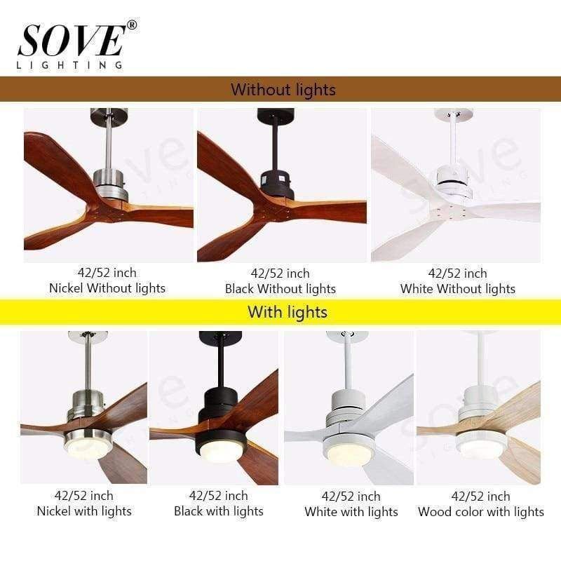 Planet Gates White / With light / size 42 inch Sove Wooden Ceiling Fans Without Light Bedroom 220v Ceiling Fan Wood Ceiling Fans With Lights Remote Control Ventilador De Teto