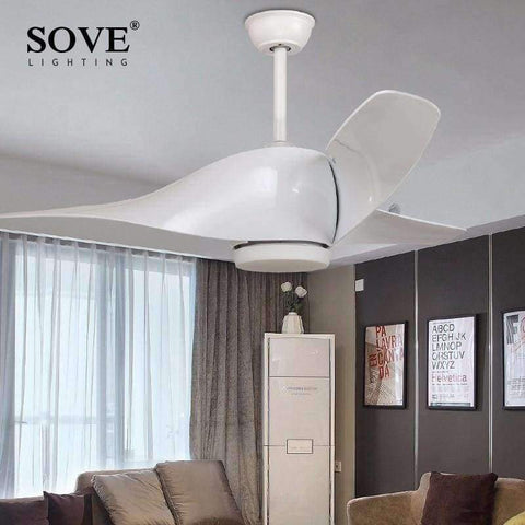 Planet Gates White / Without light / 110-240V SOVE Brown Vintage Ceiling Fan With Lights Remote Control Ventilador De Techo 220 Volt Bedroom Ceiling Light Fan Lamp LED Bulbs