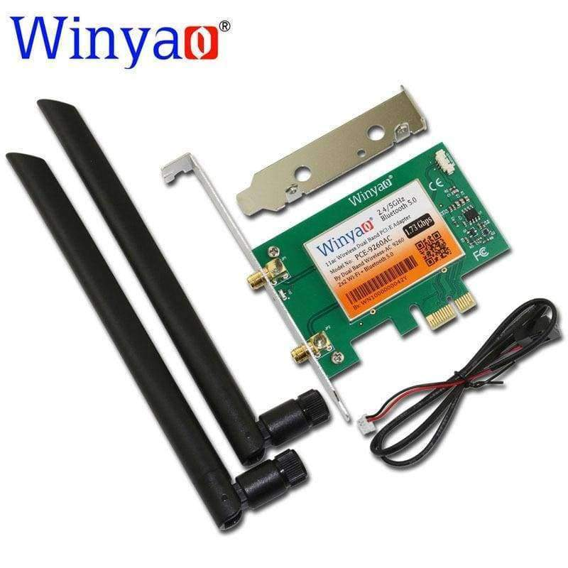 Planet Gates Winyao PCE-9260AC Desktop Dual Band PCI-Express X1 WiFi Adapter Wireless AC 9260NGW 1730Mbps Wireless Card PCI-E+ Bluetooth 5.0