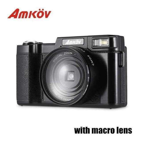 Planet Gates with macro lens AMKOV CD - R2 CDR2 Digital Camera Video Camcorder with 3 inch TFT Screen UV Filter 0.45X Super Wide Angle Lens Photo Cameras