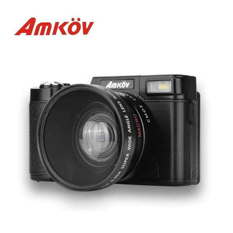 Planet Gates With wide-angle lens AMKOV CD - R2 CDR2 Digital Camera Video Camcorder with 3 inch TFT Screen UV Filter 0.45X Super Wide Angle Lens Photo Cameras