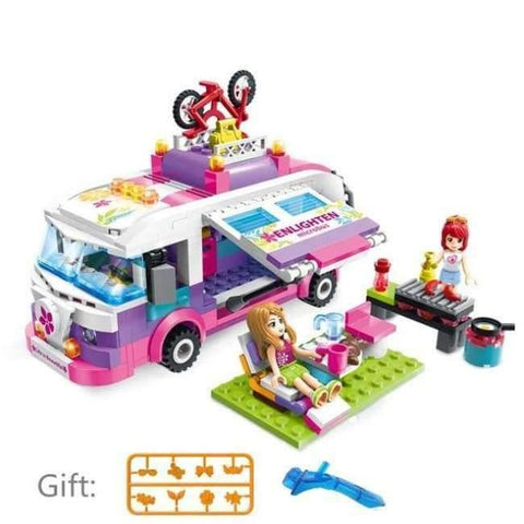 Image of Planet Gates Without original Box 2 City Girls Princess Outing Bus Car Building Blocks Sets Bricks Model Kids Classic Toys Compatible Legoings Friends