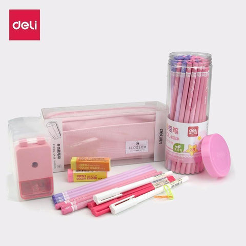 Planet Gates Writing set A Stationery gift set 2B pencils for writing school office supplies cute pencil sharpener big pencil
