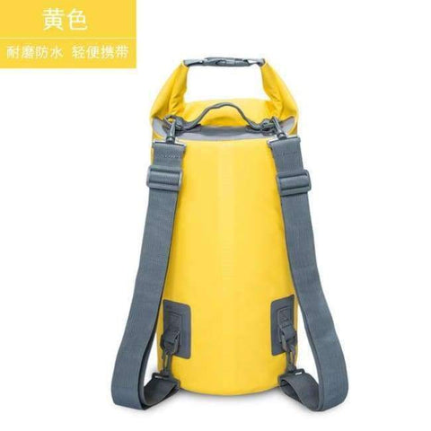Planet Gates Yellow 15L Swimming Waterproof Bags Storage Dry Sack Bag For Canoe Kayak Rafting Outdoor Sport Bags Travel Kit Equipment