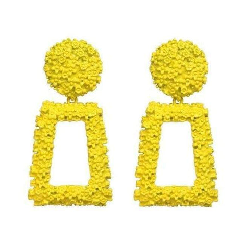 Planet Gates yellow JUJIA good quality wholesale women statement earring fashion geometric metal Earrings for women jewelry earring